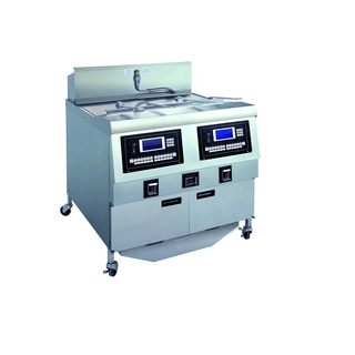 OFE-322L LCD Panel Electric Double Tanks Open Fryer (Two Tanks Four Baskets)