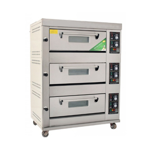 Economic Type 3 Decks 6 Trays Gas Deck Oven