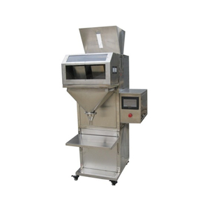 semi automatic double scale rice coffee beans fertilizer detergent powder granule weigh filling packing machine