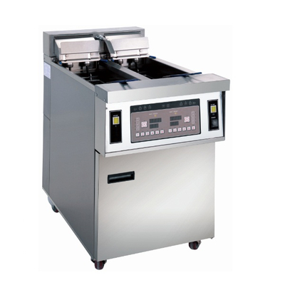 OFE-28A computer panel electric open fryer chips chicken fryer machine ( two tanks two baskets)