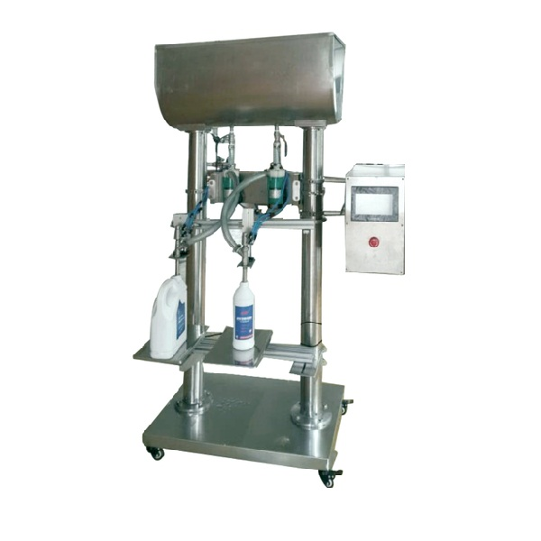 double heads liquid water vinegar juice wine veterinary medicine oil bottle filling machine