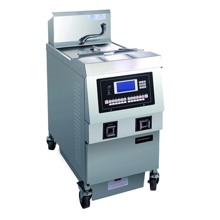 OFG-321L LCD Panel Gas Single Tank Open Fryer (One Tank Two Baskets)