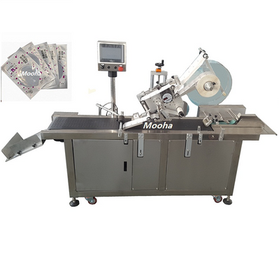 China Automatic PE plastic foil Bag Film Lottery Ticket Protective Book Plane Sticker labeler Labeling Machine
